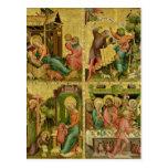 El altar de Buxtehude, la derecha, 1400-10 Tarjeta Postal