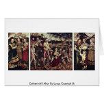 El altar de Catherine por Lucas Cranach (i) Tarjeton