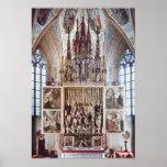 El Altarpiece 1471-81 del St. Wolfgang Póster