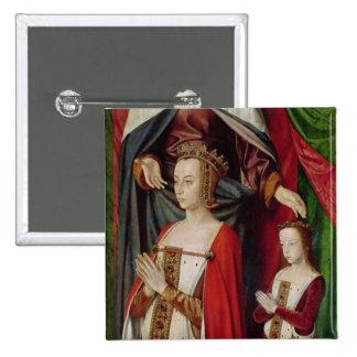 El Altarpiece de Borbón Pin Cuadrada 5 Cm