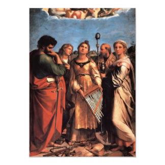 """el Altarpiece de Cecilia del santo Invitación 5"""" X 7"""""""