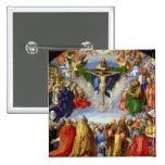 El Altarpiece de Landauer, Día de Todos los Santos Pin Cuadrado