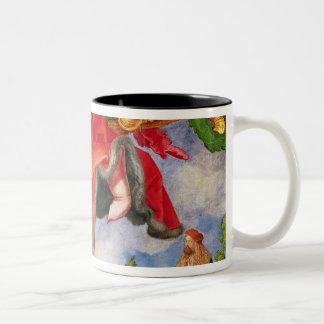 El Altarpiece de Landauer, Día de Todos los Santos Taza De Café De Dos Colores