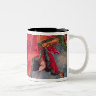 El Altarpiece de Landauer, Día de Todos los Taza De Café De Dos Colores