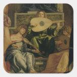 El Altarpiece de San Giobbe, detalle del playin de Pegatina Cuadrada