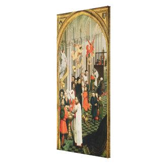 El Altarpiece de siete sacramentos Impresion De Lienzo