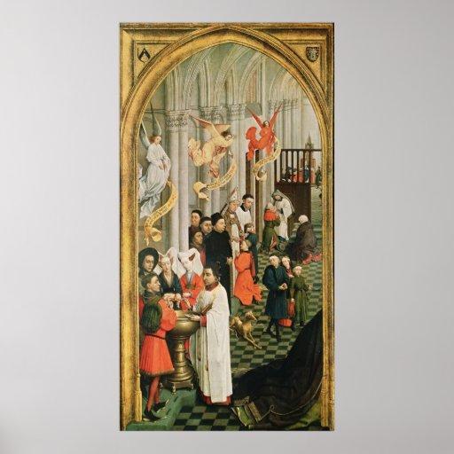El Altarpiece de siete sacramentos Posters