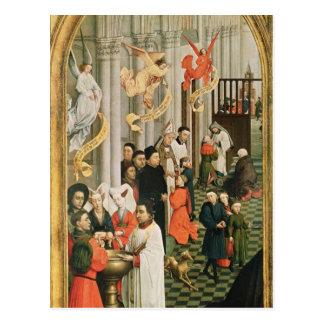 El Altarpiece de siete sacramentos Postales
