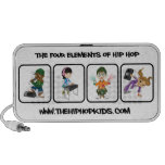 El altavoz portátil de los niños de Hip Hop