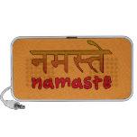 El altavoz portátil del Doodle lee Namaste