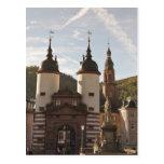 El Alte Brucke en la ciudad vieja, Heidelberg, Ale Tarjeta Postal