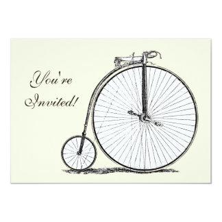 El alto biking del ciclo del comino del penique invitación 11,4 x 15,8 cm