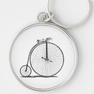 El alto Biking del ciclo del comino del penique Llavero Redondo Plateado