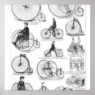 El alto Biking del ciclo del comino del penique Posters