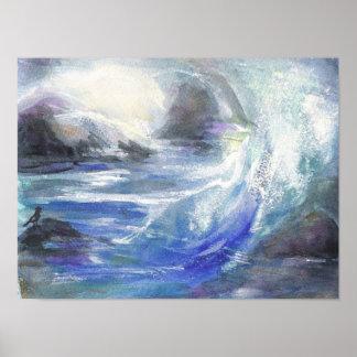 El alto del océano agita el poster