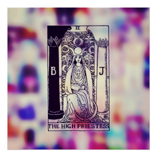 El alto poster de la carta de tarot de la