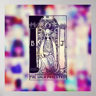 El alto poster de la carta de tarot de la póster