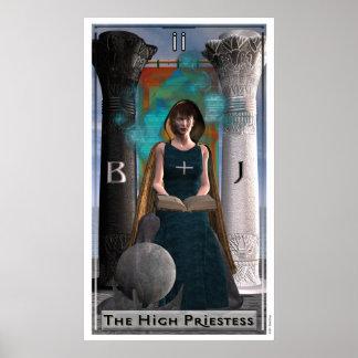 El alto poster de la sacerdotisa póster