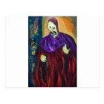 El alto sacerdote (retrato del expresionismo) tarjeta postal