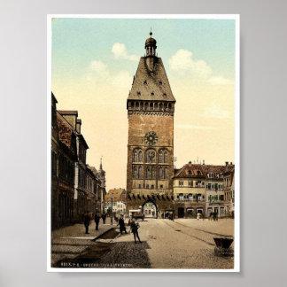 El Altportel, Speyer, el Rin, Alemania Pho raro Póster