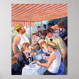 El alumerzo 2,0 de Renoir Póster