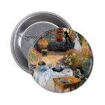 El alumerzo de Claude Monet Pin Redondo De 2 Pulgadas