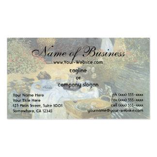 El alumerzo de Claude Monet Plantilla De Tarjeta De Negocio