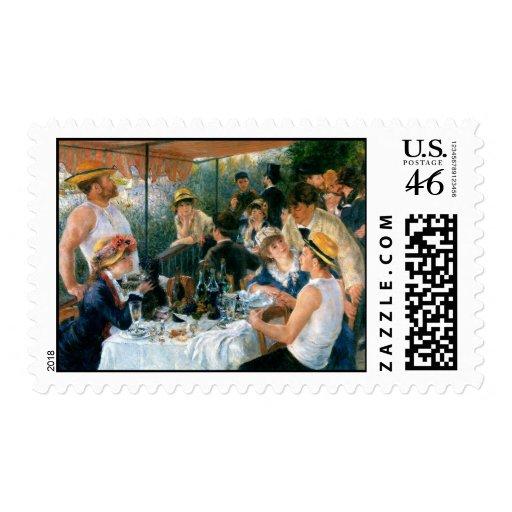 El alumerzo de Renoir del fiesta del canotaje (188 Sellos
