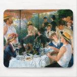 El alumerzo de Renoir del fiesta del canotaje (188 Alfombrillas De Ratones