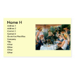 El alumerzo de Renoir del fiesta del canotaje (188 Plantilla De Tarjeta De Negocio