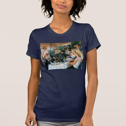 El alumerzo de Renoir del fiesta del canotaje Tshirts