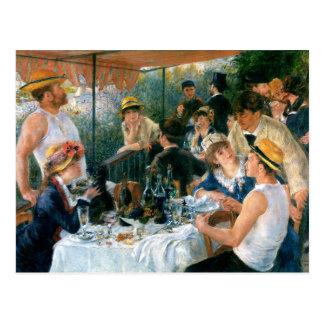 El alumerzo de Renoir del fiesta del canotaje Tarjeta Postal