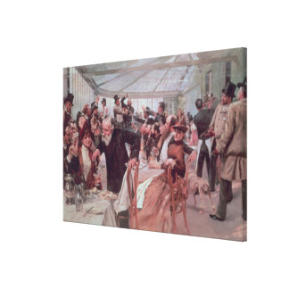 El alumerzo del artista escandinavo lona envuelta para galerias