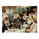 El alumerzo del fiesta del canotaje tarjeta postal