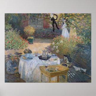 El alumerzo: El jardín de Monet en Argenteuil Póster