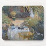 El alumerzo: El jardín de Monet en Argenteuil Alfombrilla De Raton