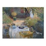 El alumerzo: El jardín de Monet en Argenteuil Postal
