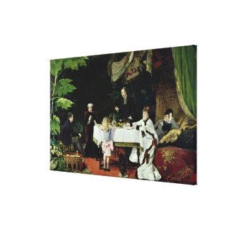 El alumerzo en el invernadero, 1877 lona envuelta para galerias