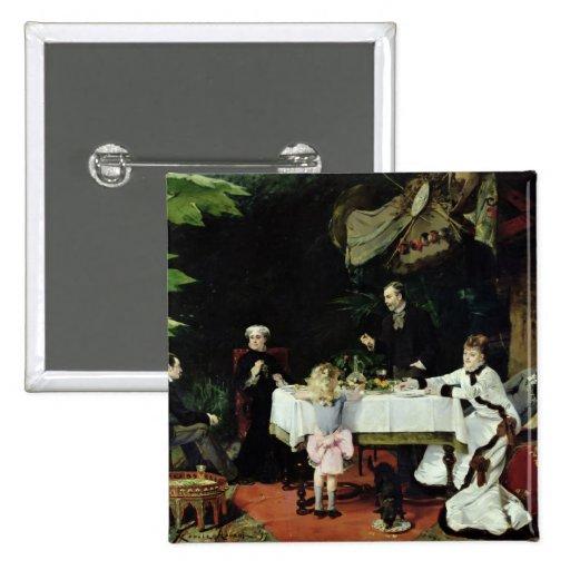 El alumerzo en el invernadero, 1877 pin