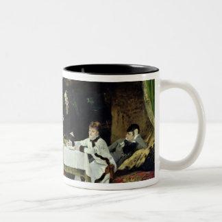 El alumerzo en el invernadero, 1877 taza de café