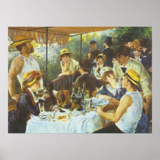 El alumerzo, por Pierre-Auguste Renoir Póster