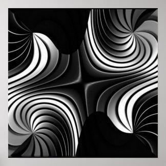 el aluminio raya el poster abstracto