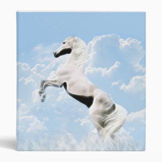"El alzarse blanco del caballo del semental carpeta 1"""