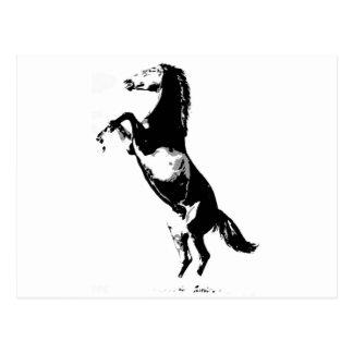 El alzarse del caballo postal