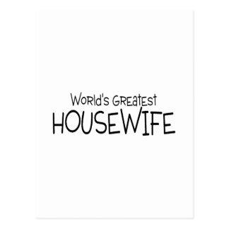 El ama de casa más grande de los mundos tarjetas postales