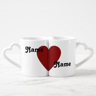Él ama su sistema de la taza de los amantes taza amorosa