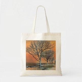El amanecer del invierno bolsas de mano
