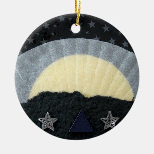 El amanecer del invierno - collage ornamentos de navidad
