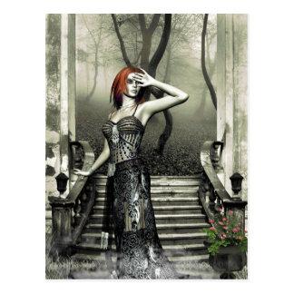 El amanecer gótico de los chicas se acerca a la tarjetas postales