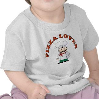 El amante de la pizza embroma la camiseta